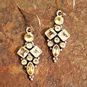 Jewelry - Sterling Silver and Citrine Dangle Earrings